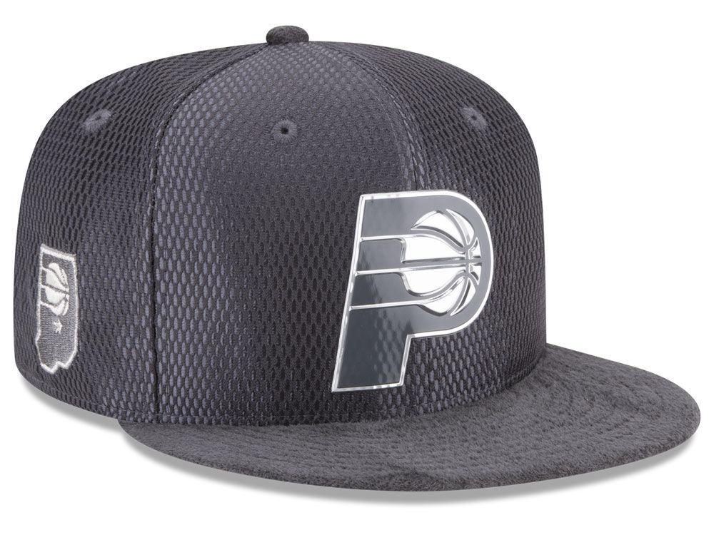 7c06c233e5bb86 Indiana Pacers New Era NBA On-Court Graphite Collection 9FIFTY Snapback Cap    lids.com