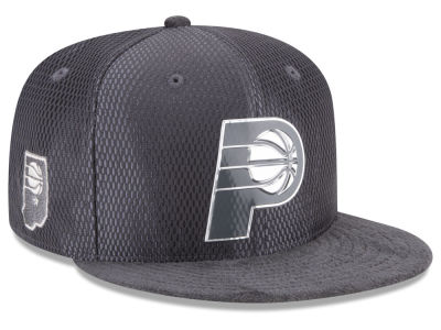 Indiana Pacers New Era NBA On-Court Graphite Collection 9FIFTY Snapback Cap
