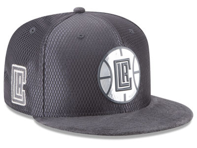Los Angeles Clippers New Era NBA On-Court Graphite Collection 9FIFTY Snapback Cap