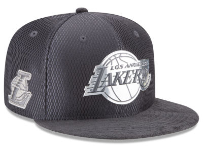 Los Angeles Lakers New Era NBA On-Court Graphite Collection 9FIFTY Snapback Cap