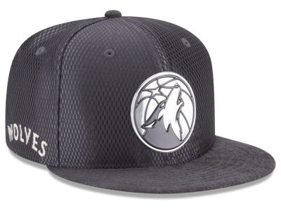 Minnesota Timberwolves New Era NBA On-Court Graphite Collection 9FIFTY Snapback Cap