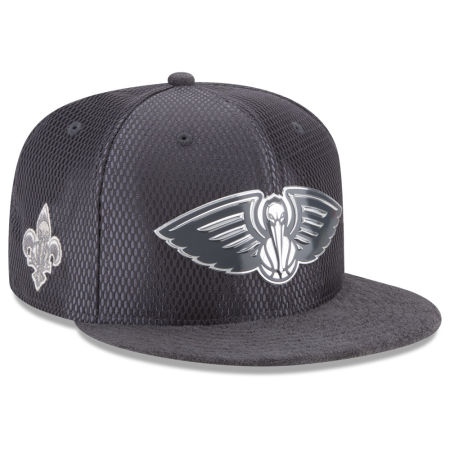 New Orleans Pelicans New Era NBA On-Court Graphite Collection 9FIFTY Snapback Cap