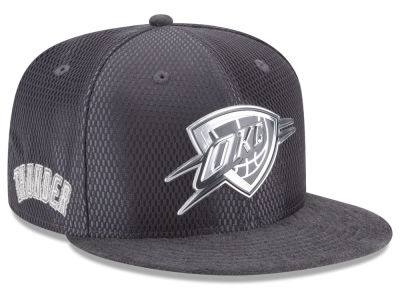 Oklahoma City Thunder New Era NBA On-Court Graphite Collection 9FIFTY Snapback Cap