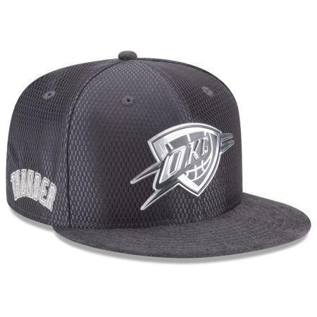 Oklahoma City Thunder New Era NBA On-Court Graphite Collection 9FIFTY Snapback Cap