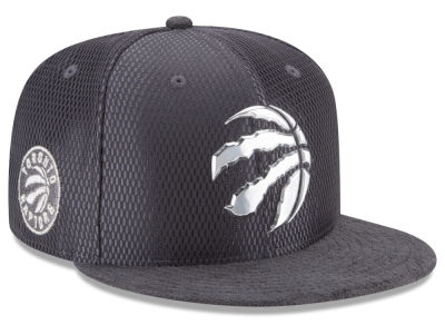 Toronto Raptors New Era NBA On-Court Graphite Collection 9FIFTY Snapback Cap