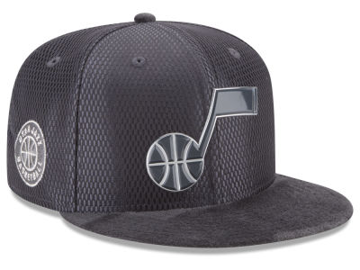 Utah Jazz New Era NBA On-Court Graphite Collection 9FIFTY Snapback Cap