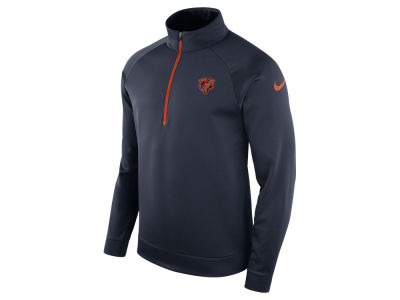Chicago Bears Nike NFL Men's Lightweight Therma Quarter Zip Pullover