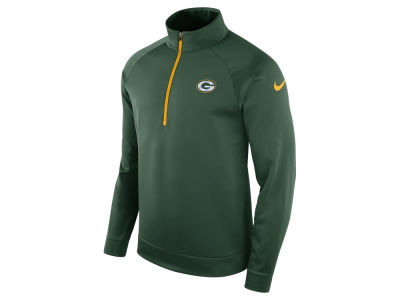 Green Bay Packers Nike NFL Men's Lightweight Therma Quarter Zip Pullover