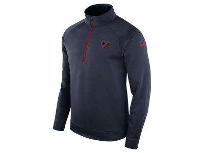 Houston Texans Nike NFL Men's Lightweight Therma Quarter Zip Pullover