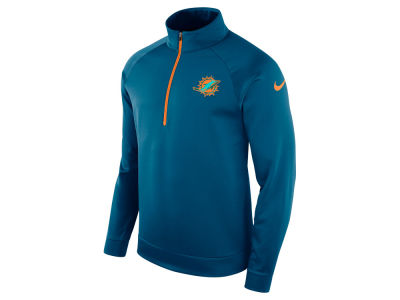 Miami Dolphins Nike NFL Men's Lightweight Therma Quarter Zip Pullover