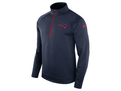 New England Patriots Nike NFL Men's Lightweight Therma Quarter Zip Pullover