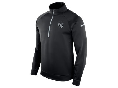 Oakland Raiders Nike NFL Men's Lightweight Therma Quarter Zip Pullover