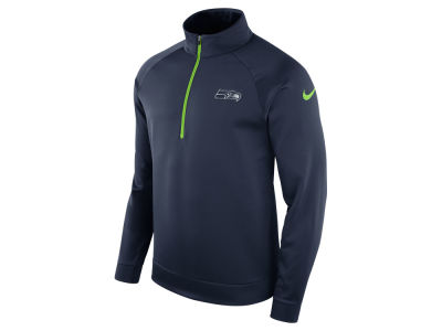 Seattle Seahawks Nike NFL Men's Lightweight Therma Quarter Zip Pullover