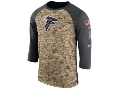 Atlanta Falcons Nike 2017 NFL Men's Salute To Service 3/4 Sleeve Raglan T-Shirt