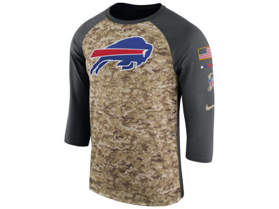 Buffalo Bills Nike 2017 NFL Men's Salute To Service 3/4 Sleeve Raglan T-Shirt