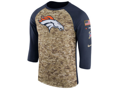 Denver Broncos Nike 2017 NFL Men's Salute To Service 3/4 Sleeve Raglan T-Shirt