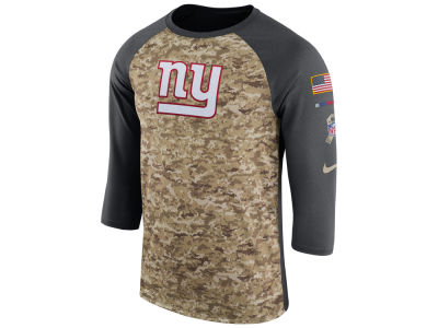 New York Giants Nike 2017 NFL Men's Salute To Service 3/4 Sleeve Raglan T-Shirt