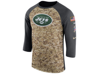 New York Jets Nike 2017 NFL Men's Salute To Service 3/4 Sleeve Raglan T-Shirt