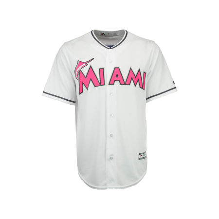 Miami Marlins Majestic MLB Mens Mothers Day Cool Base Jersey