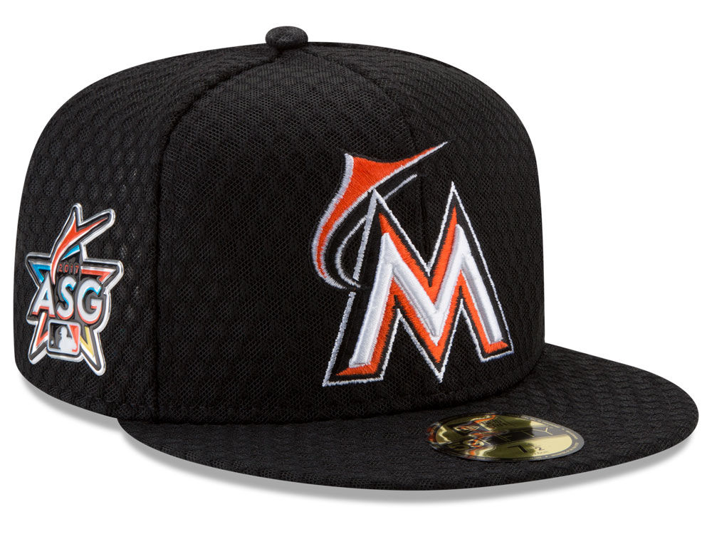 quality design f999c 6beba ... greece miami marlins new era 2017 mlb all star game home run derby patch  59fifty cap