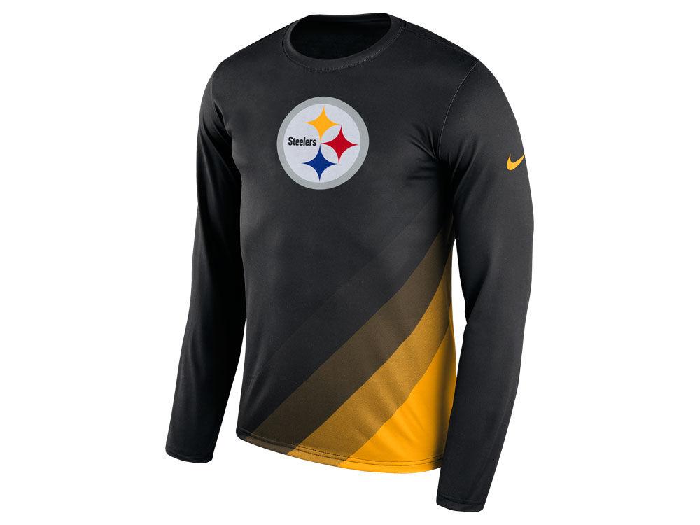 Pittsburgh Steelers Nike NFL Men s Legend Prism Long Sleeve T-Shirt ... 46268fb67