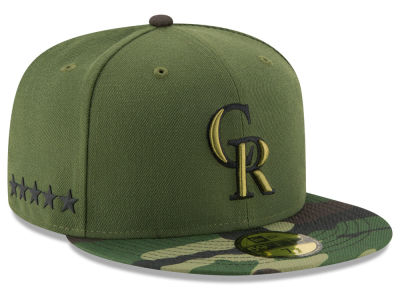 Colorado Rockies New Era 2017 MLB Memorial Day 59FIFTY Cap
