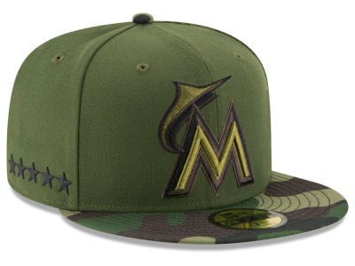Miami Marlins New Era 2017 MLB Memorial Day 59FIFTY Cap