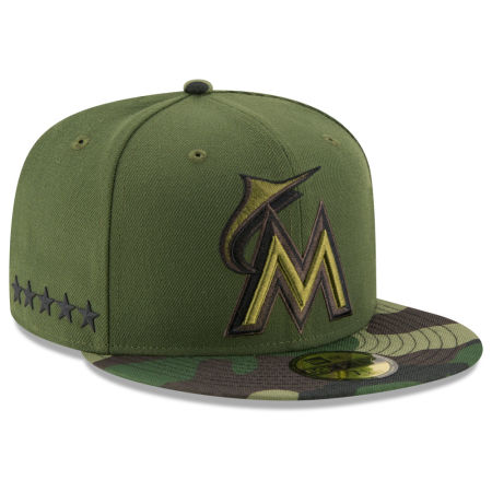 Miami Marlins New Era 2017 MLB Memorial Day 59FIFTY Cap