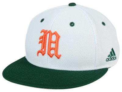 Miami Hurricanes adidas NCAA Throwback Fitted Cap