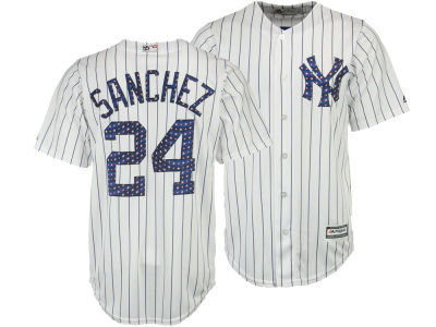 New York Yankees Gary Sánchez MLB Men's Stars & Stripes Cool Base Jersey