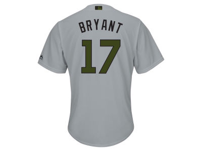 Chicago Cubs Kris Bryant Majestic 2017 MLB Men's USMC Cool Base Jersey