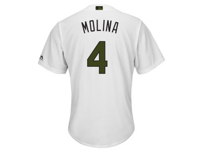 St. Louis Cardinals Yadier Molina 2017 MLB Men's USMC Cool Base Jersey