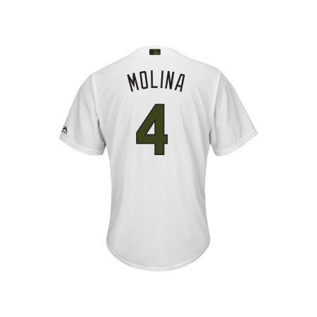 St. Louis Cardinals Yadier Molina 2017 MLB Men's USMC Cool Base Jersey