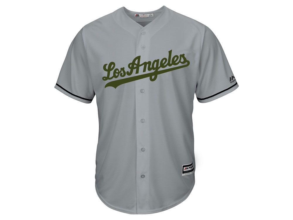 Los Angeles Dodgers Majestic MLB Men s Memorial Day Cool Base Jersey ... 48837ea2749