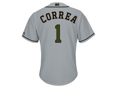 Houston Astros Carlos Correa 2017 MLB Men's USMC Cool Base Jersey