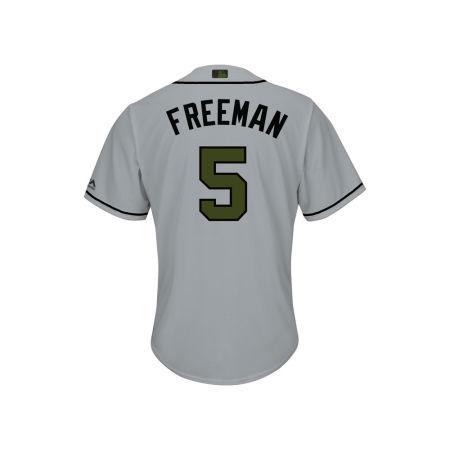 Atlanta Braves Freddie Freeman 2017 MLB Men's USMC Cool Base Jersey