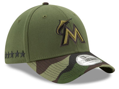 Miami Marlins New Era 2017 MLB Memorial Day 39THIRTY Cap