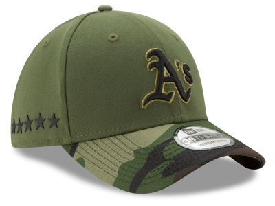 Oakland Athletics New Era 2017 MLB Memorial Day 39THIRTY Cap