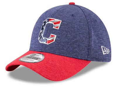 Cleveland Indians New Era 2017 MLB Stars & Stripes 39THIRTY Cap