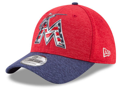 Miami Marlins New Era 2017 MLB Stars & Stripes 39THIRTY Cap