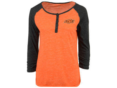 Oklahoma State Cowboys Colosseum NCAA Women's Slopestyle 3/4 Sleeve T-Shirt