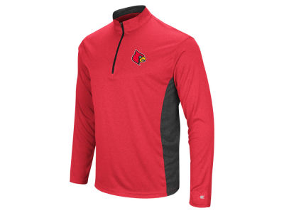 Louisville Cardinals Colosseum NCAA Men's Audible Quarter Zip Pullover