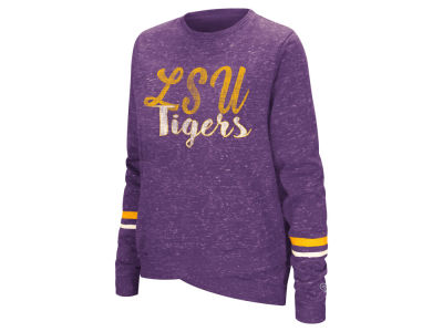 LSU Tigers Colosseum NCAA Women's Birdie Fleece Crew Sweatshirt