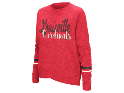 Louisville Cardinals Colosseum NCAA Women's Birdie Fleece Crew Sweatshirt