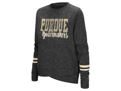 Purdue Boilermakers Colosseum NCAA Women's Birdie Fleece Crew Sweatshirt