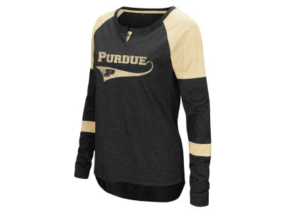 Purdue Boilermakers Colosseum NCAA Women's Routine Long Sleeve T-Shirt