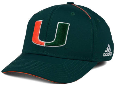 Miami Hurricanes adidas 2017 NCAA Coaches Flex Cap