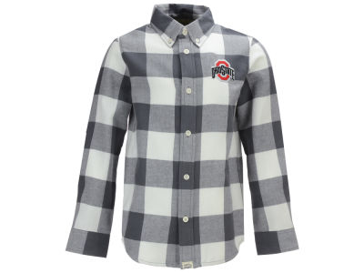 Ohio State Buckeyes NCAA Toddler Nicolas Toddler Flannel Button Up