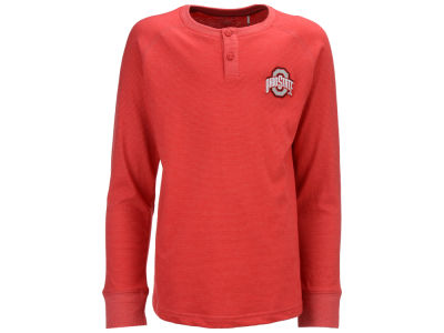 Ohio State Buckeyes NCAA Youth Hunter Striped Long Sleeve Henley