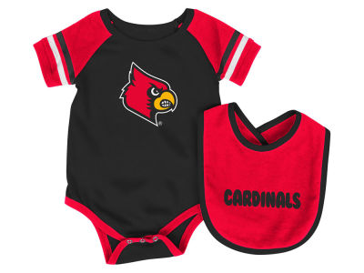 Louisville Cardinals Colosseum NCAA Newborn Rollout Onesie and Bib Set